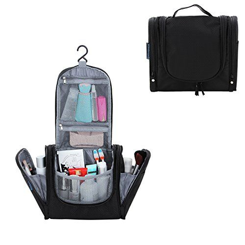b41ed16baf SONGMICS Hanging Toiletry Bag for Men Women Travel Kit Makeup Cosmetic  Organizer Shower Bag Black UGTP22H -- Click image to review more details.