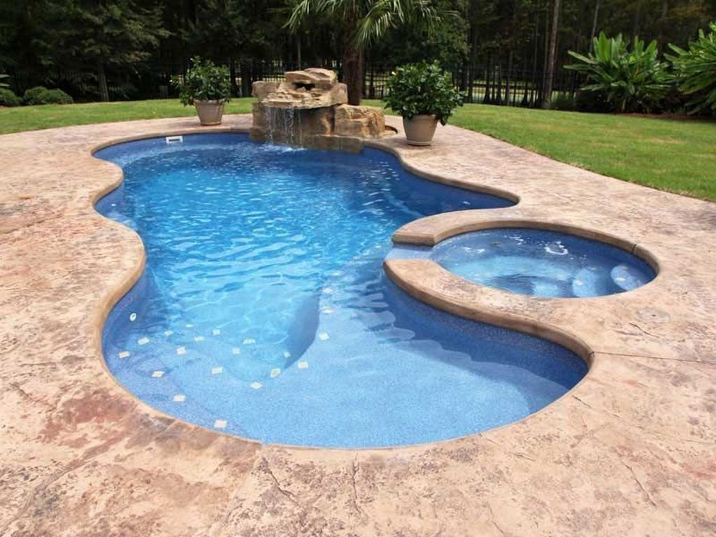 Popular Small Swimming Pool Design On A Budget 32 Fiberglass Swimming Pools Small Swimming Pools Pools Backyard Inground