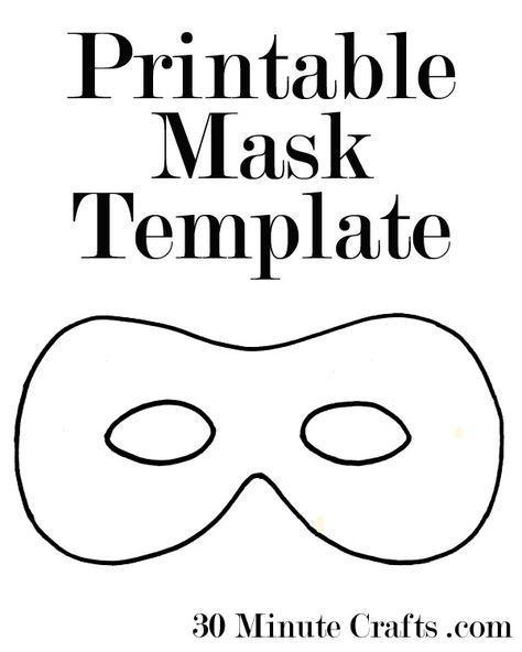 Printable Halloween Mask Templates - a superhero mask, animal mask