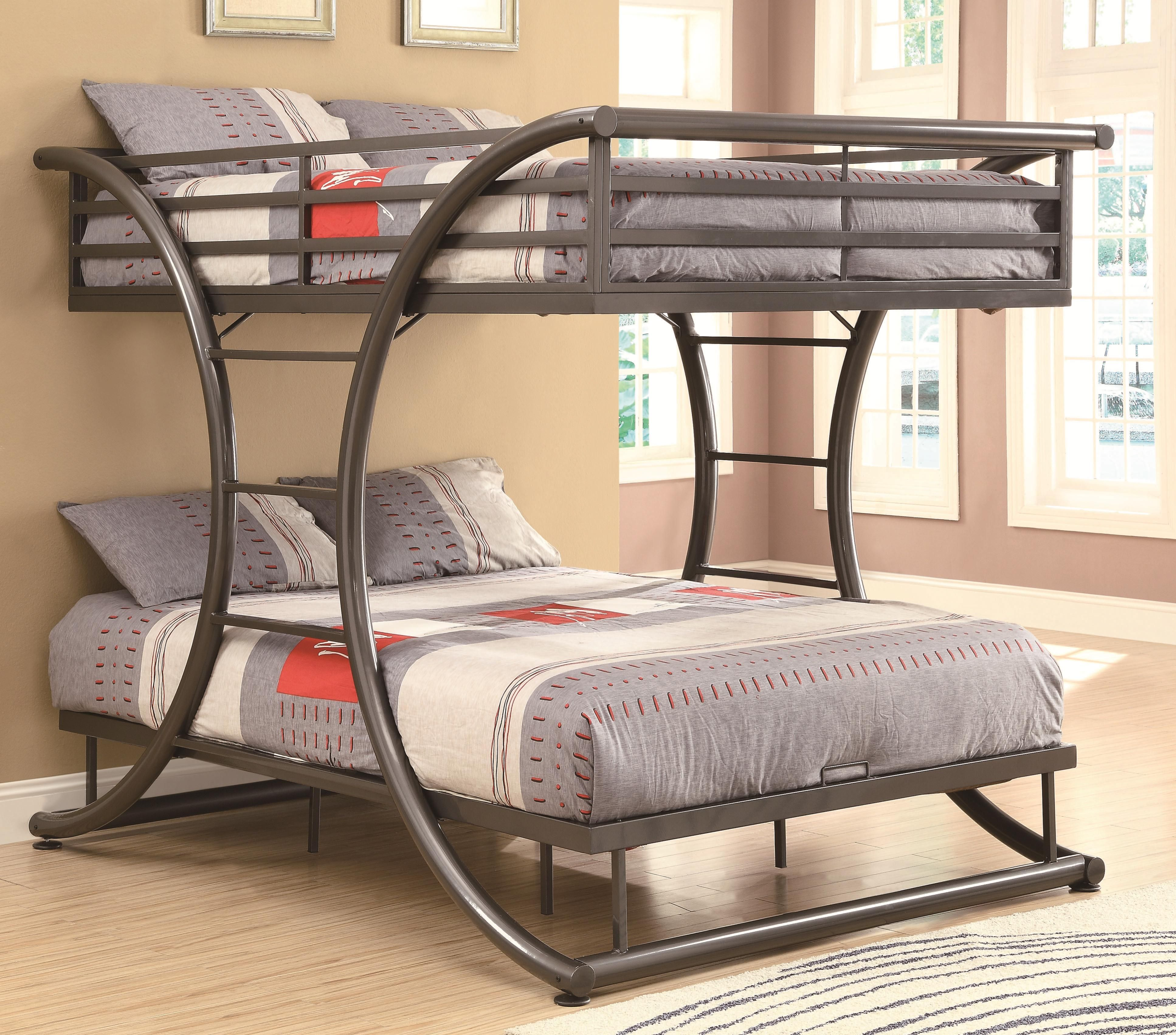Bunks Full-over-Full Contemporary Bunk Bed by Coaster | Camas ...