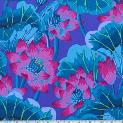 Kaffe Fassett Lake Blossoms Blue Blossom flower, Home