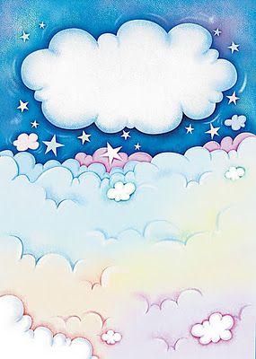 Dibujo cielo infantil para imprimir imagenes y dibujos - Imagenes de nubes infantiles ...