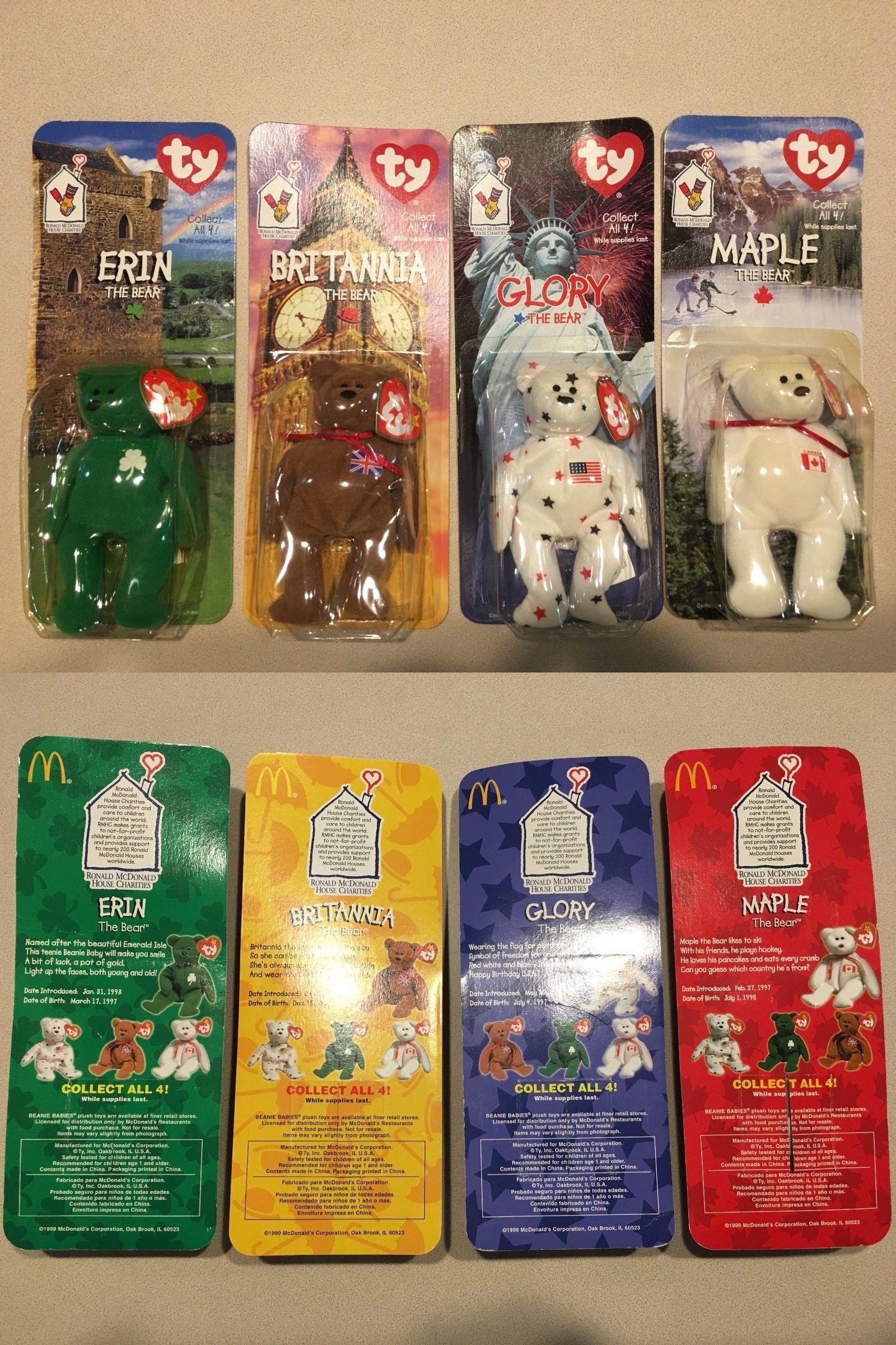 8137eb2428b Teenie Beanies 441  Ty 1999 Mcdonald S Beanie Babies Intl. Bears Error  Collection (4) Rare!!! -  BUY IT NOW ONLY   49.95 on  eBay  teenie  beanies   mcdonald ...