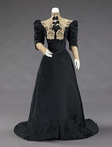 Exceptionnel 1900-1905, la France Robe de soirée par Jean-Philippe vaut Soie  OG56