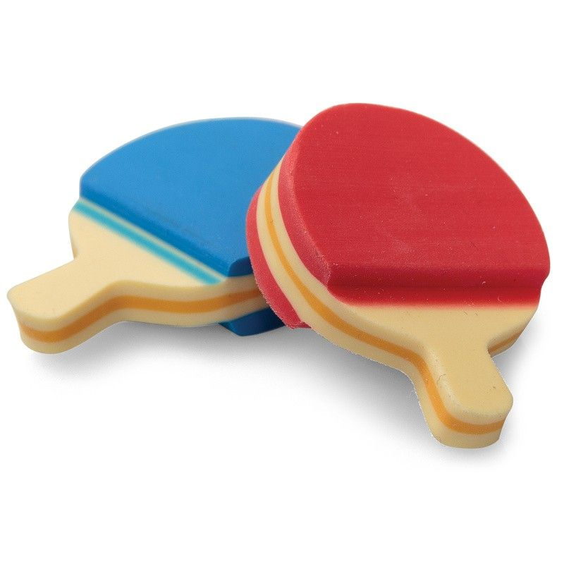 New Ping Pong Set Table Tennis Paddle Ball Erasers ~ Great Gifts Party Favors