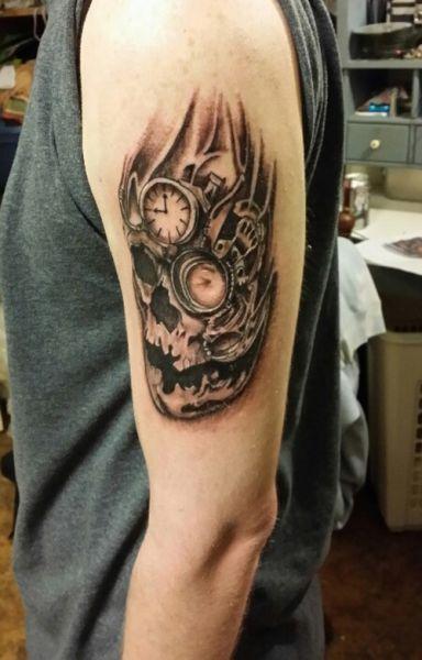 Tatuaże Męskie Czaszka I Zegar Zegaryklepsydryczachy