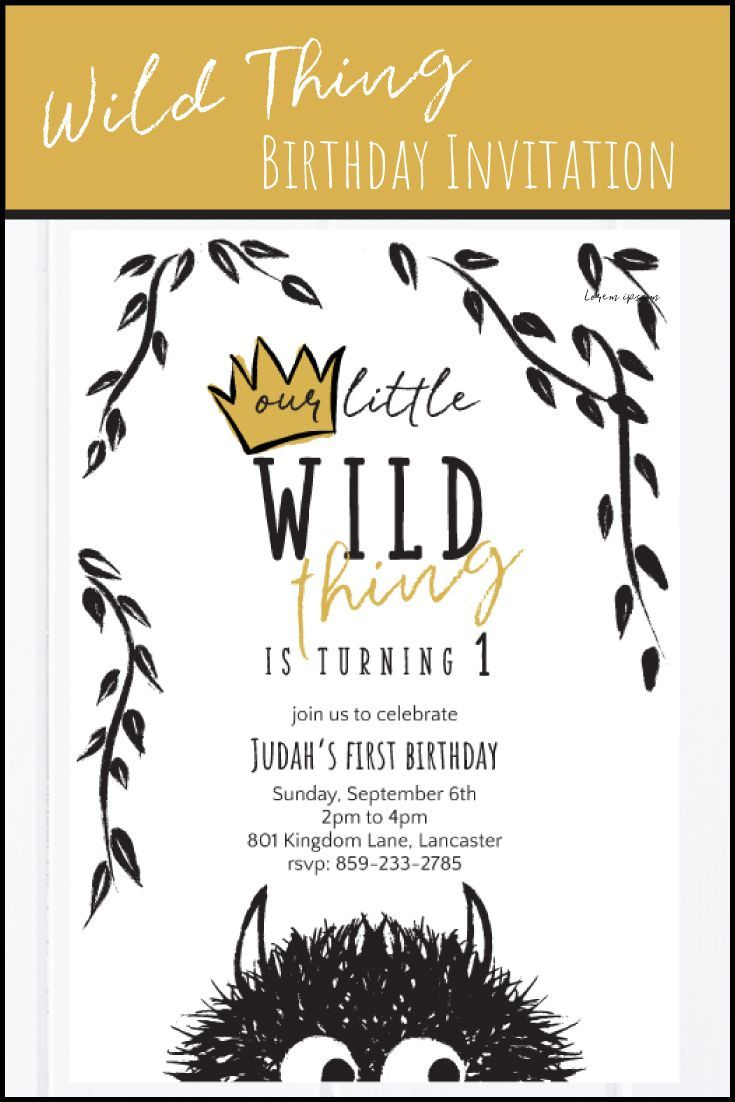 Wild One Birthday Party | Wild Things Birthday Party | Instant Download | 1st, 2nd, 3rd Birthday | Where the Wild Things Are Party