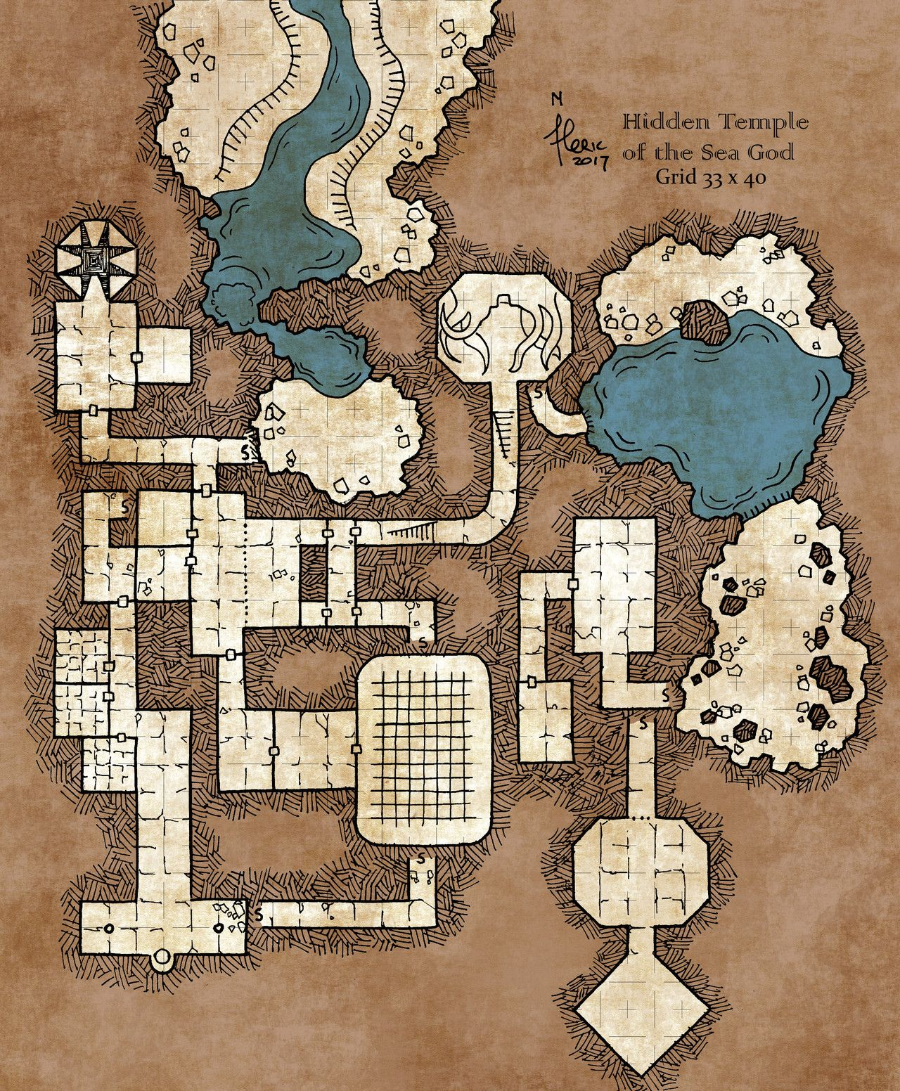 Pin by Zeev on D&D in 2019 | Dungeon maps, Fantasy map ...