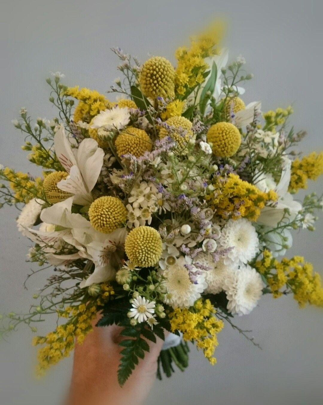 Yellow Wedding bouquet,  ramo de novia amarillo.