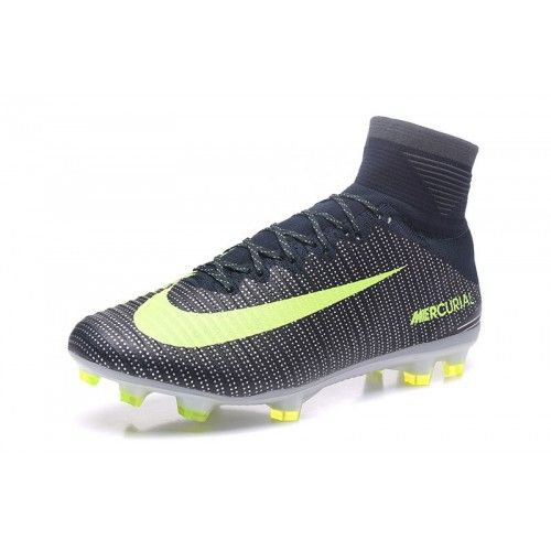 wholesale dealer 0cd5e f9c50 Billig Nike Mercurial Superfly V CR7 FG Sort Gul - Ny Nike Mercurial  Fodboldstøvler.