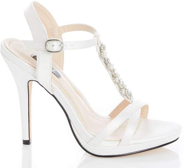 Find Great Cheap Online Dorothy Perkins Womens *Quiz Satin Bridal Sandals- Visa Payment For Sale LnpLXErBq