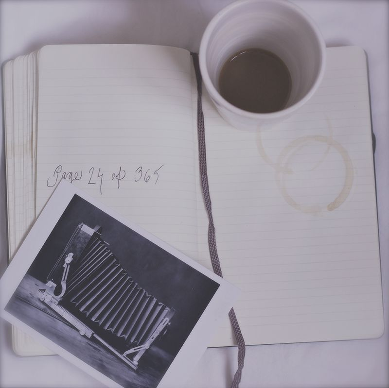 journaling with a cup of coffee...