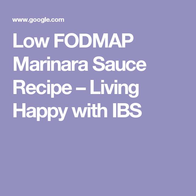 Low FODMAP Marinara Sauce Recipe – Living Happy with IBS
