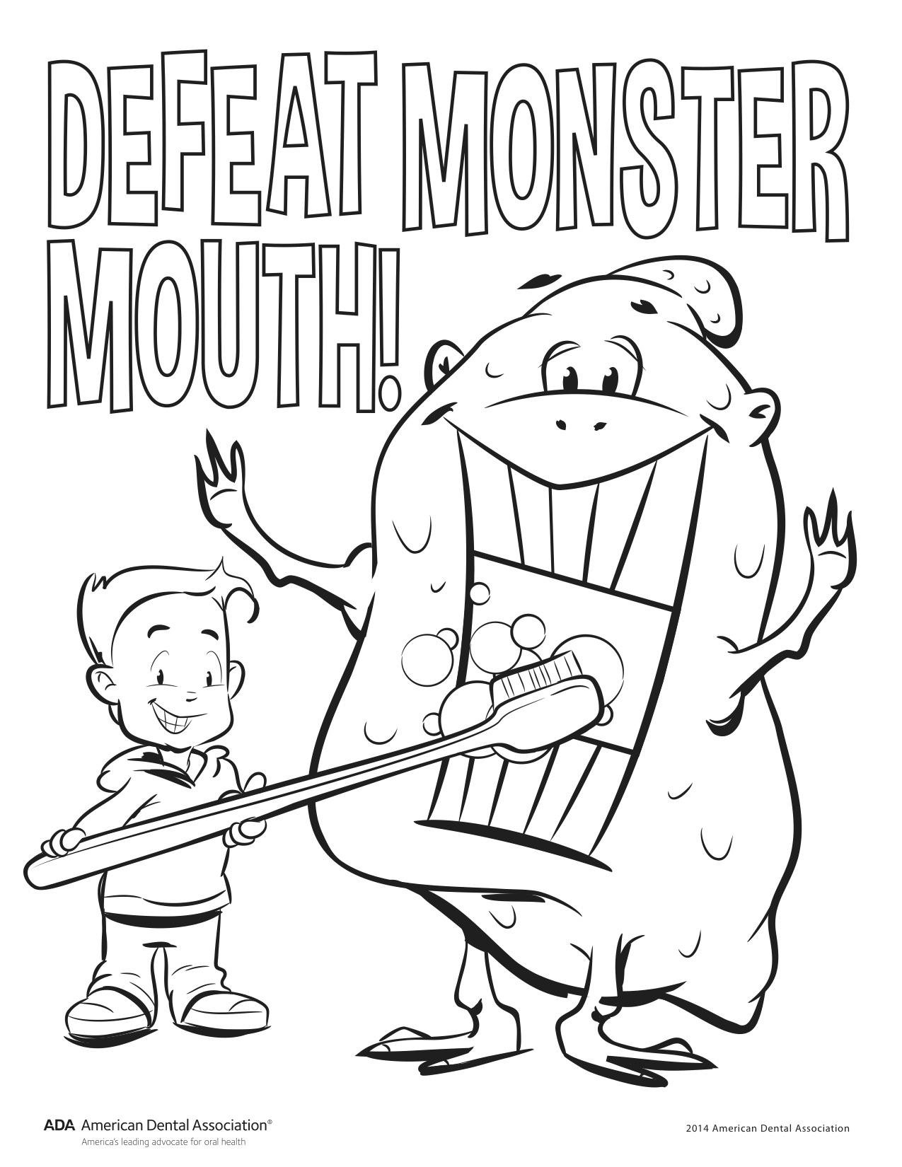 This childrensdentalhealthmonth defeat monster mouth by following the 2min2x rule brush your teeth 2 min 2x day