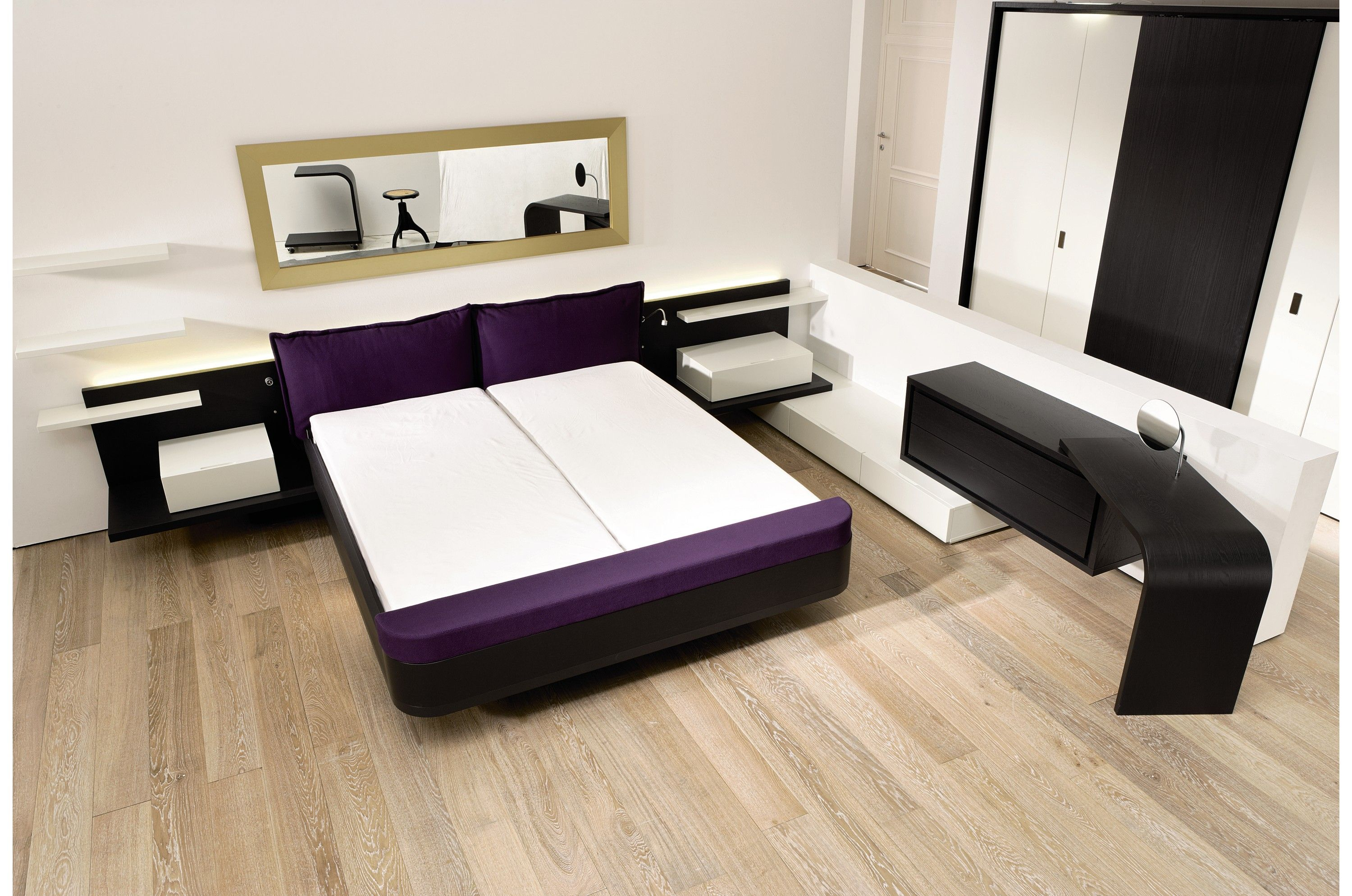 Fantastic Style Bedroom Inspiration For Girls with Wooden Floor also White  Wall Paint Color and Black