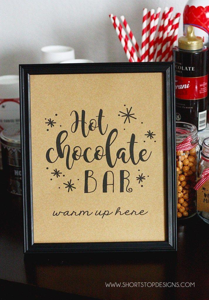 Hot Chocolate Bar + Printables #hotchocolatebar