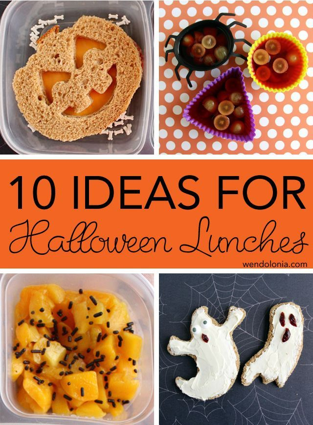 10 Ideas for Halloween Lunches Halloween ideas - cheap halloween food ideas