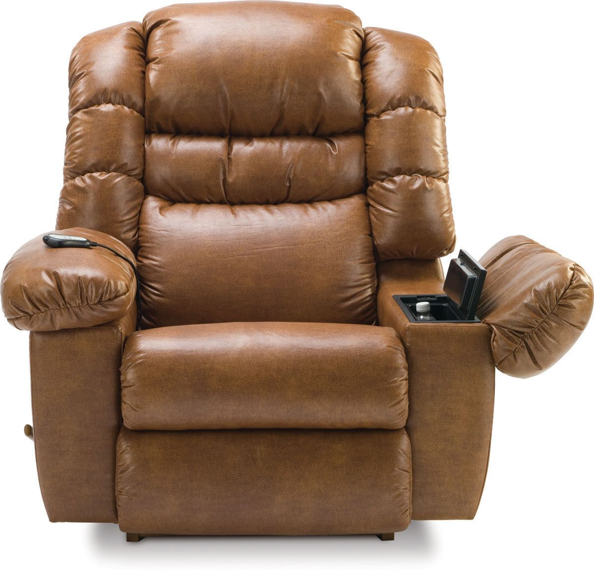 Lazy Boy Leather Power Recliners Andres Brown Couch Living