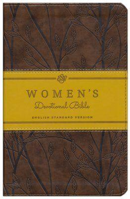 ESV Women's Devotional Bible, TruTone, Brown with Birch Design  -