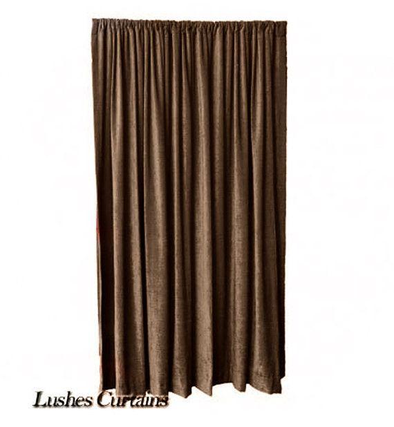 Brown Fr Velvet Curtain 108 Inch Long Wall Door Panel Drape Velvet Curtains Red Velvet Curtains Curtains