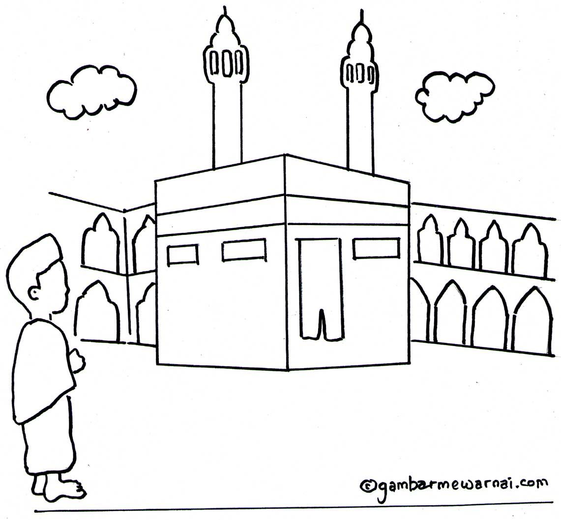 Gambar Mewarnai Kabah Places To Visit Coloring For Kids