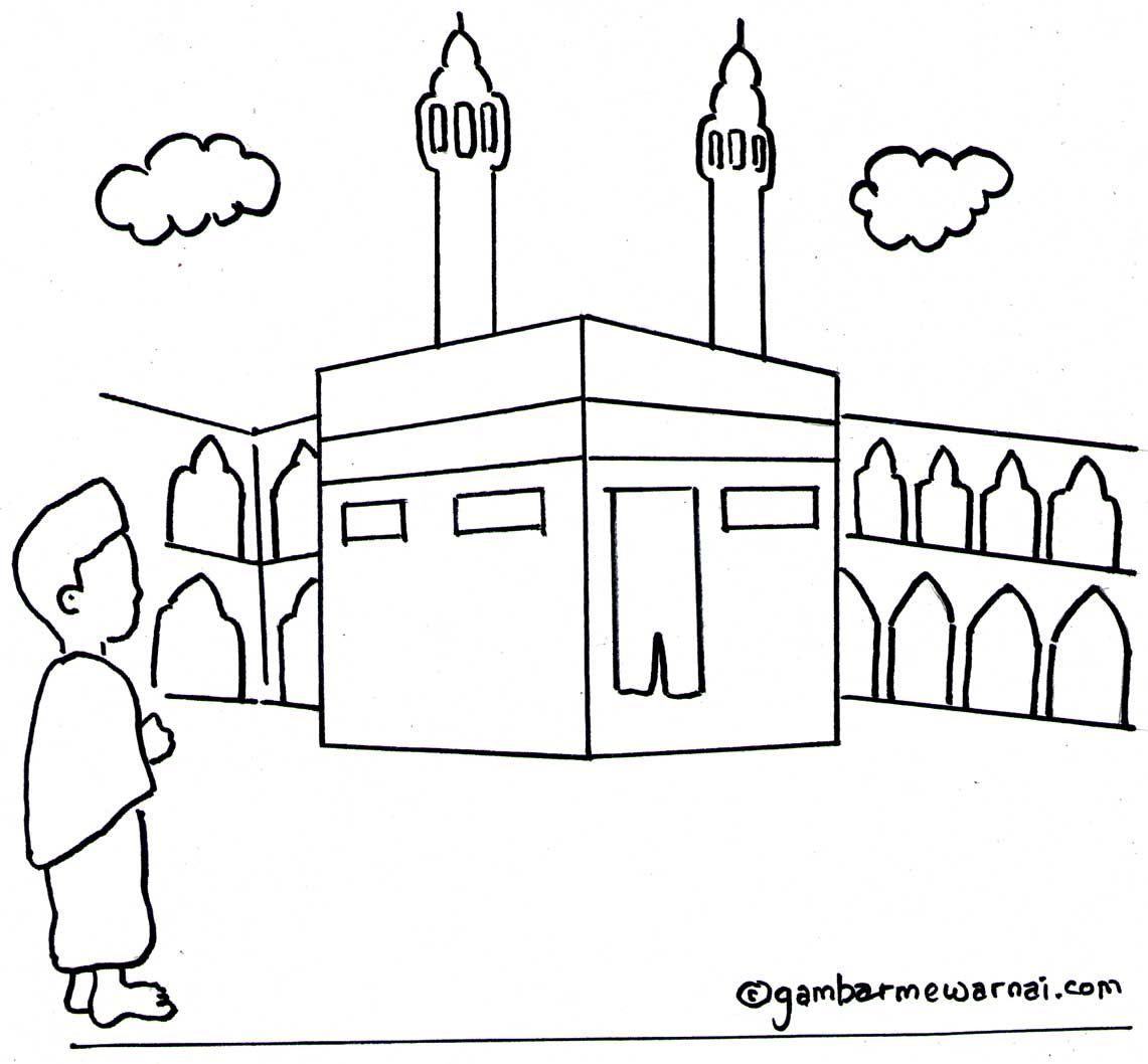 91 Foto Gambar Masjid Kartun Hitam Putih Terlihat Cantik