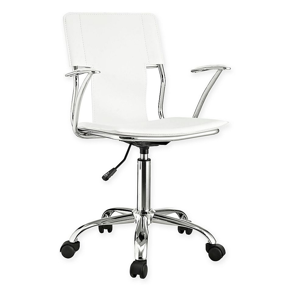 Modway Studio Office Chair In White In 2020 Adjustable Office Chair Swivel Office Chair Chair