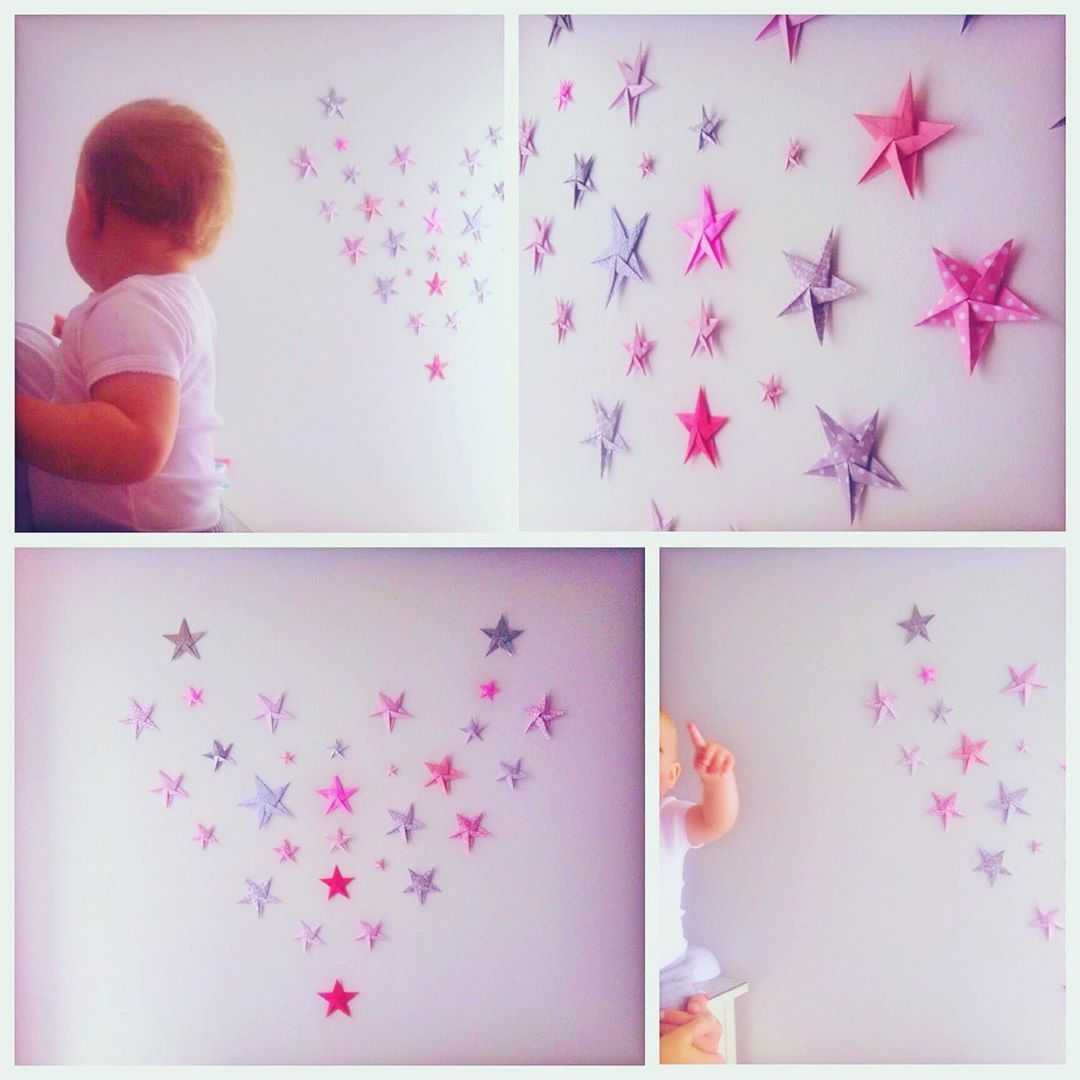 Origami stars for Stellas bedroom