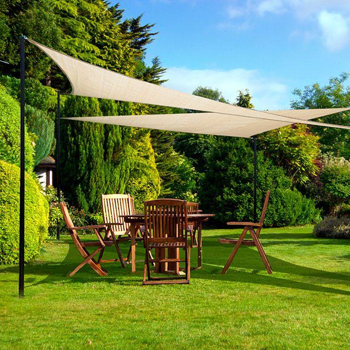 SONNENSEGEL SAND 3,6X3,6X3,6m SUNFUN Terrasse Pinterest - vorteile sonnensegel terrasse