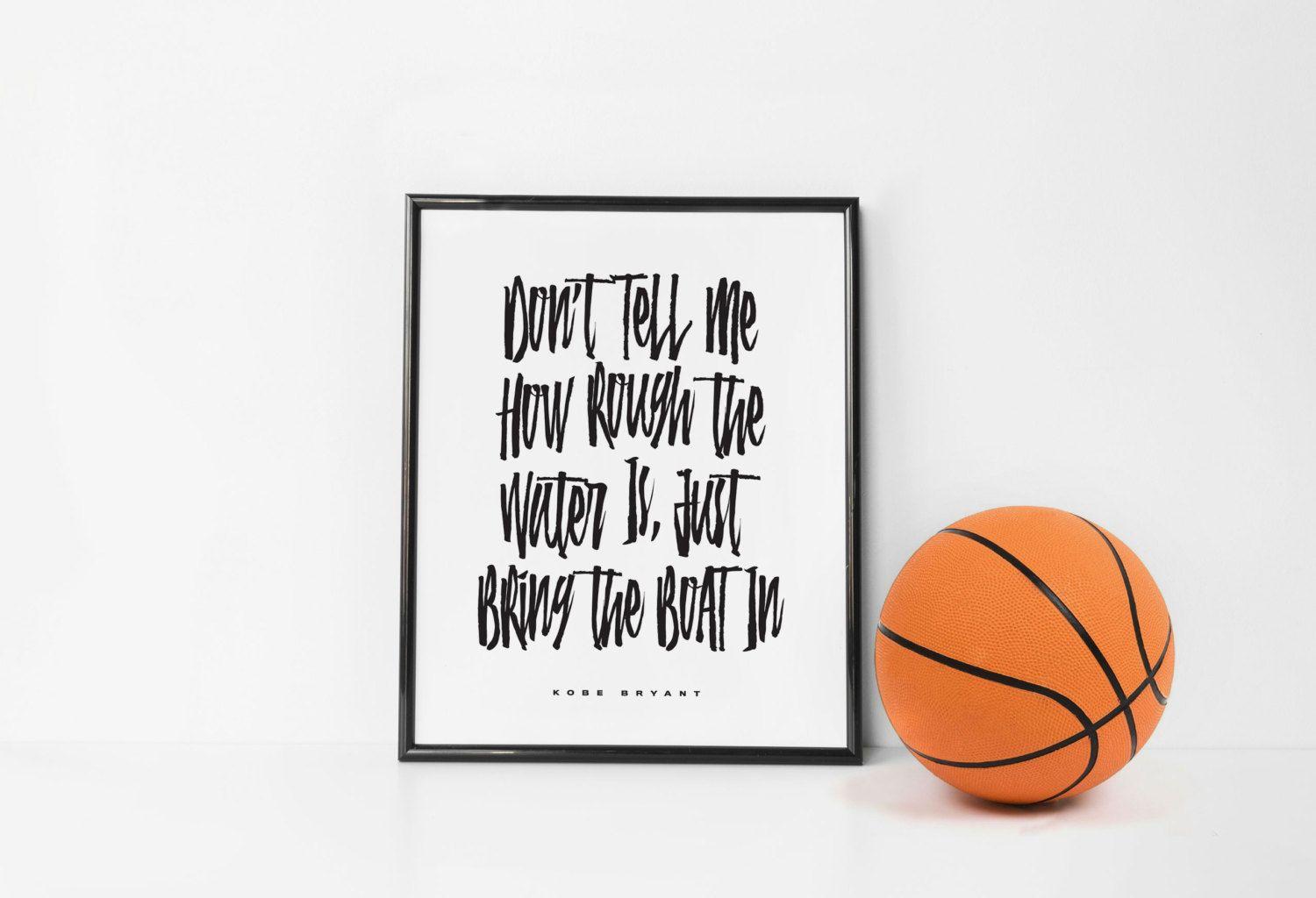Kobe Bryant inspiration quote printable typography poster • typography print • wall art • design • instant download by hsuperdesigns on Etsy
