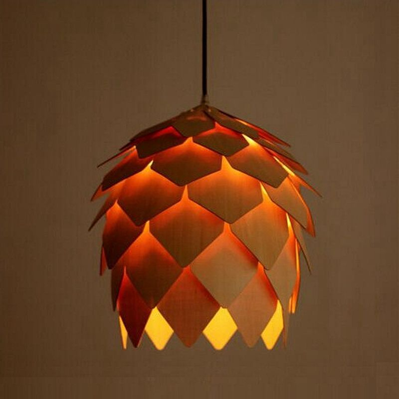 Aliexpress.com : Buy 2016 Modern Art Wooden Pinecone Lustres Pendant Lights  Wood Pendant Lamps