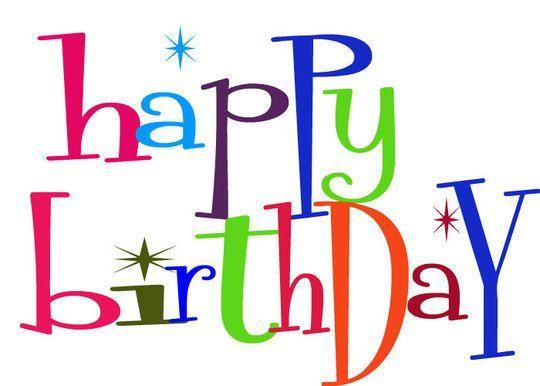 happy birthday clip art happy birthday clipart graphics rh pinterest com Happy Birthday Day Clip Art Free Free Christian Birthday Clip Art
