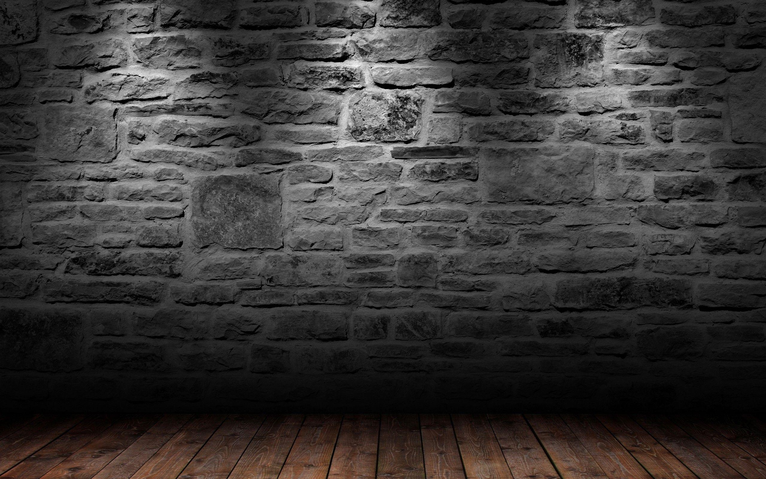 Floor 3d Wallpaper 2560x1600 Floor 3d View Wall Room Wood Floor Black Brick Wallpaper Brick Wall Wallpaper Brick Wall Backdrop