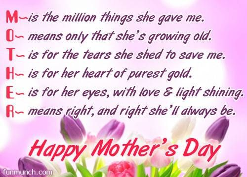 Happy mother day wishes for mother m is the million thins she gave happy mother day wishes for mother m is the million thins she gave me m4hsunfo