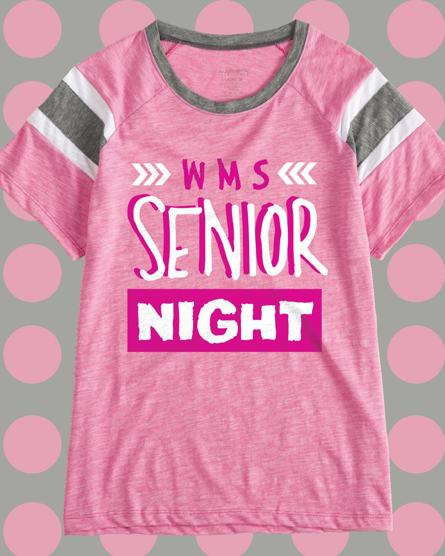 0eca1e520 Senior Night custom vintage varsity t-shirt - design idea for custom shirt  - class shirt, school spirit, school pride, class pride, seniors, senior  girls, ...