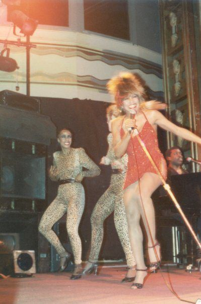 Photo by Hank of Tina Turner live at The Ritz in New York 1983