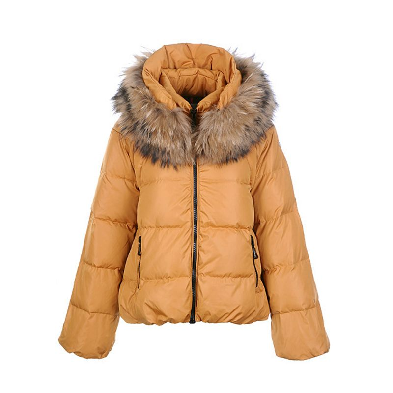 yellow moncler coat