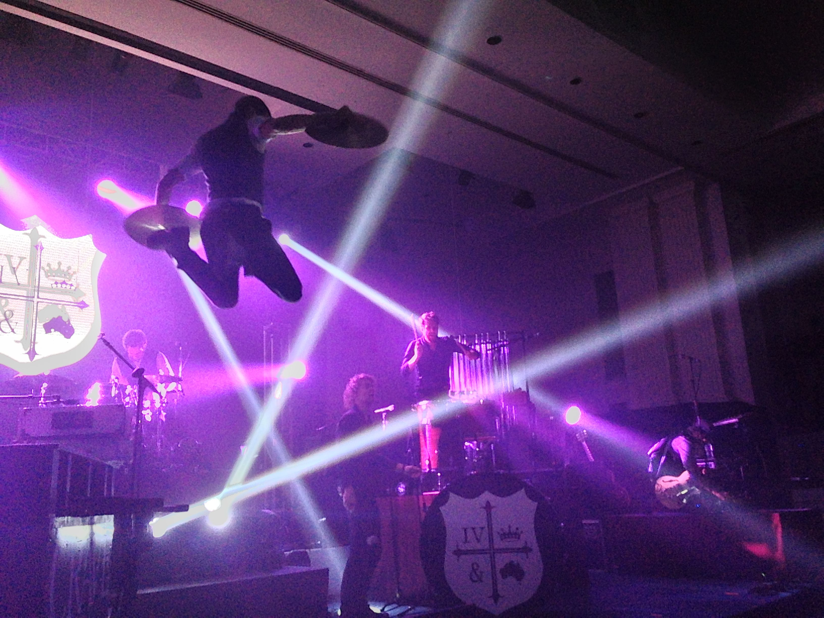 Action shot of for KING & COUNTRY on the K-LOVE Christmas Tour ...
