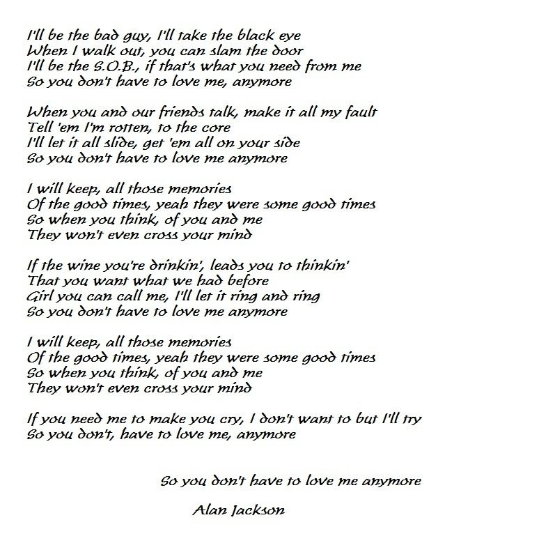 Lyric don t tell me what to do lyrics : So you don't have to love me anymore | Healing my soul | Pinterest ...