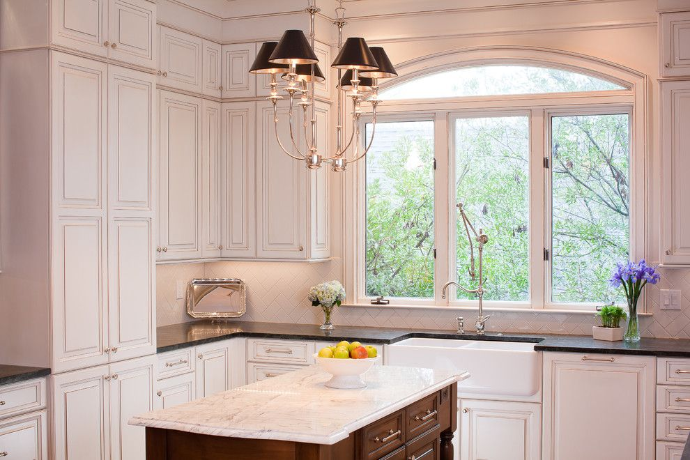 Windows Without Panes With Arched Window Kitchen Traditional And