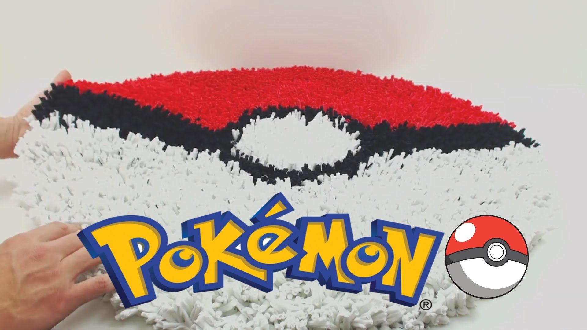 Diy  Como Fazer O Tapete Da Pokebola Pokemon