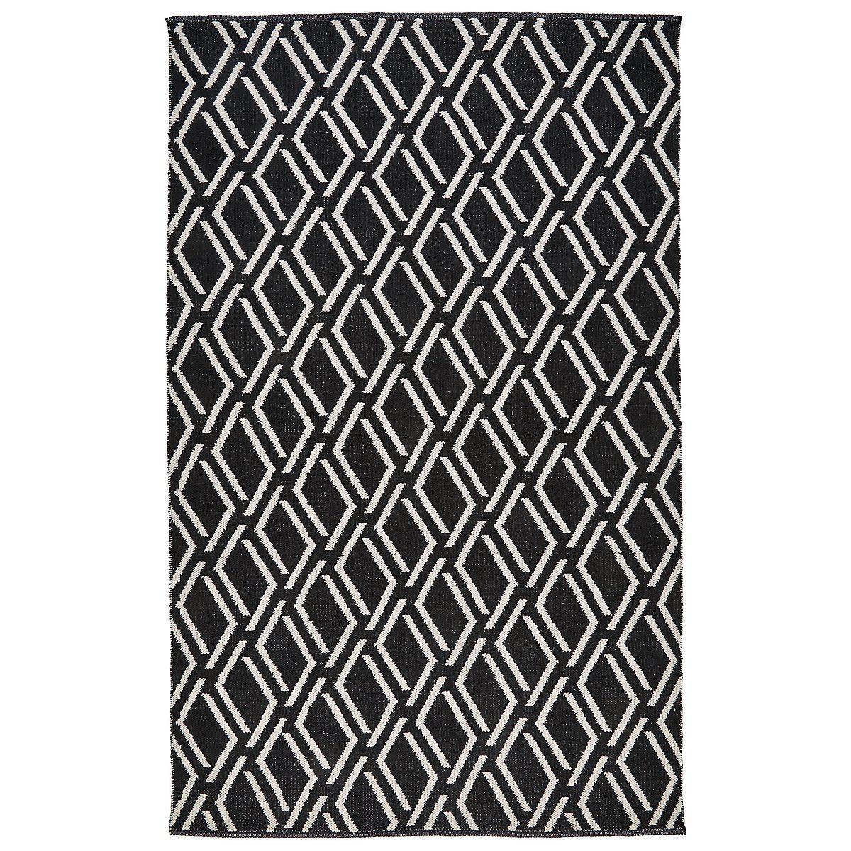 Coast Black Poly Indoor Outdoor 8x10 Area Rug Rug Pattern Rugs