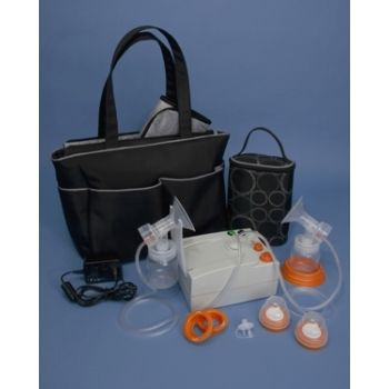 Hygeia EnJoye-EXT Double Electric Breast Pump, $239.99. This electric/automatic breast pump is designed with a closed system to eliminate the potential to cross contaminate milk and therefore poison your baby. This is a safe and effective breast pump.