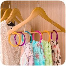 2Pcs/lot Ring Rope Scarf Wraps Shawl Storage Holder Tie Silk Scarves Backpack Hook Hanger Decor Room 4 Color(China (Mainland))