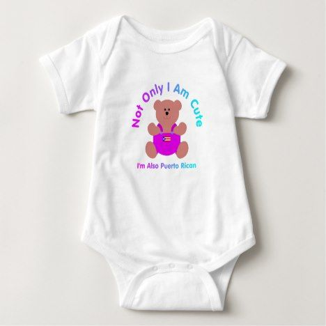"""""""Cute Puerto Rican"""" Baby Baby Bodysuit #cute #baby #babyclothes #kids #cuteanimals"""