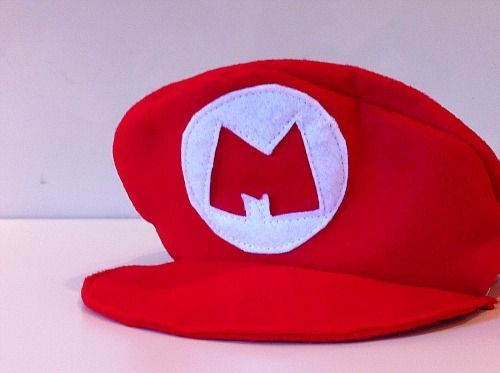 You never know when you might need to whip up a quick Mario hat! & You never know when you might need to whip up a quick Mario hat ...