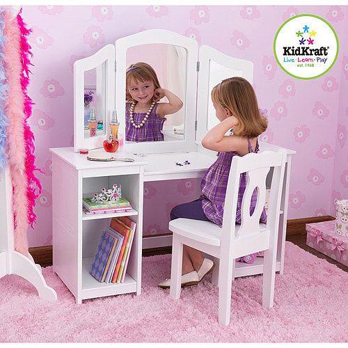 kidkraft 13018 deluxe vanity chair