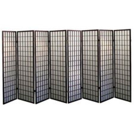 Legacy Decor 8-Panel Japanese Oriental Style Room Screen Divider Cherry Color