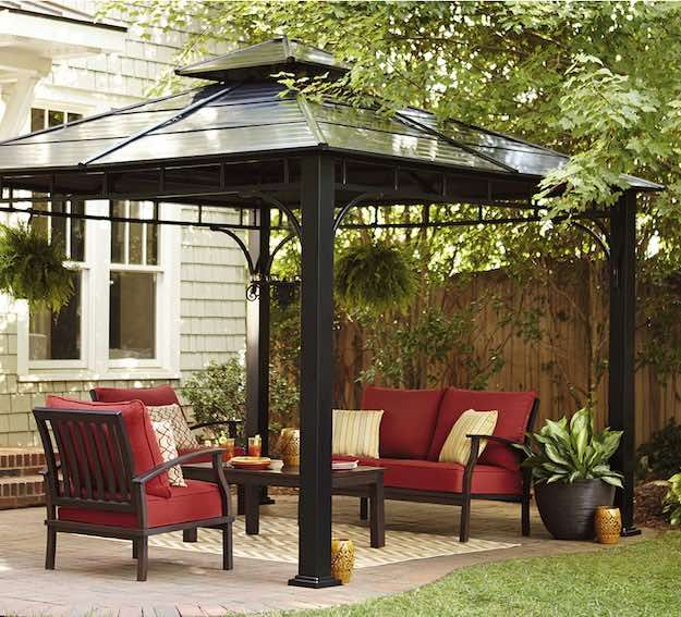 Back Square Grill Gazebo | 15 Lowes Outdoor Furniture Picks Worth Splurging  On