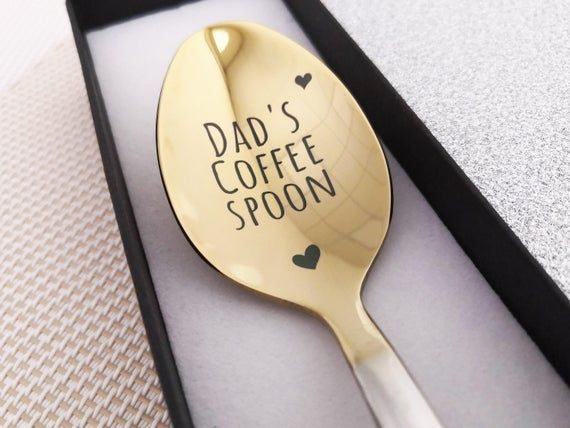 My Dad My Hero Fathers Day Gifts from Daughter Son Soup Spoon Dinner Spoon Tea Spoon Coffee Spoon Ice Cream Spoon 304 Stainless Steel